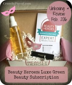 Beauty Heroes Luxury Green Beauty Subscription Unboxing & Review: February 2016 featuring Beautycounter-Crunchy Parent