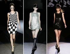 Today the mod boxy look is seen in many runways but in different styles. From sequence to leather dresses the mod look is still innovating.