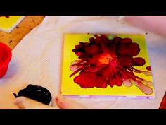 Step-by-step Tutorial how to paint with Alcohol Inks - YouTube