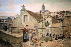 Ludovic Piette La rue du Château à Pontoise.