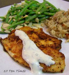 10 Ten Times: Seasoned Tilapia with Dill Sauce