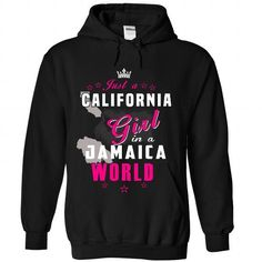Just An California Girl In A Jamaica World - #sweatshirt quilt #sweaters for fall. GET IT => https://www.sunfrog.com//Just-An-California-Girl-In-A-Jamaica-World-5283-Black-Hoodie.html?68278
