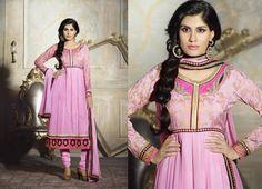 Lovely Pink Anarkali