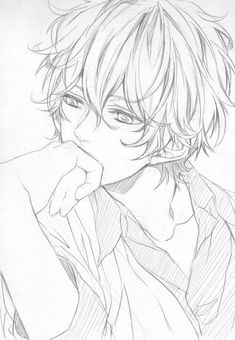 Image about text in Monochrome art by Wendy on We Heart It Anime Boy Sketch, Anime Drawings Sketches, Anime Boy Drawing, Art Manga, Anime Art, Fan Anime, Anime Lineart, Manga Drawing Tutorials, Anime Poses
