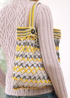 Crochet string shopping bag