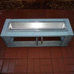 "Fire pit frame, DIY fire pit system, FT 44"" Gas Fire Trough, http://www.gaslight-firepit.com"
