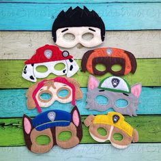 Paw Patrol Mask Characters by MommaCricketz on Etsy, $5.00