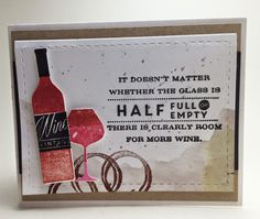 Homemade Cards by Erin: more wine?