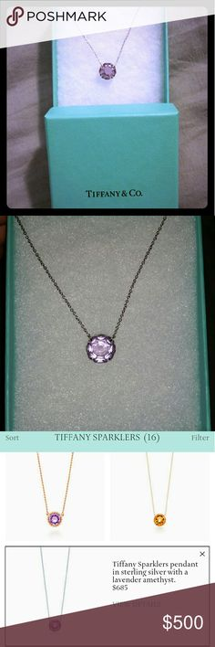 Tiffany and co sparkler necklace Tiffany and co Sterling silver with lavender amethyst  from sparkler collection Tiffany & Co. Jewelry Necklaces