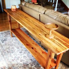 """New sofa table. Spalted oak 16"""" X 84"""""""