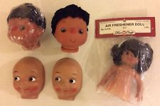 African Doll Face Vintage African American Doll Head Doll Crafting Celluloid Doll Face