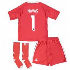 Real Madrid Målvakt Keylor Navas 1 kläder Barn 17-18 Bortatröja Kortärmad  #Billiga fotbollströjor