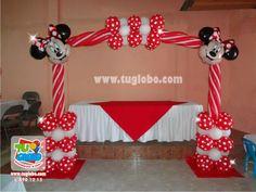 Arco de globos Minnie Rojo