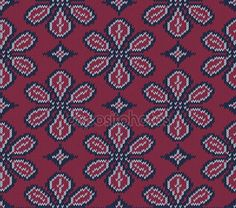 Knitted background in Fair Isle style in three colors. Seamless sweater pattern. Vector illustration. — Stok Vektör © 0mela #100808636
