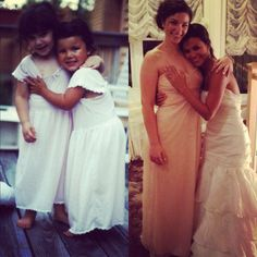 Best friends as babies, and now Bride and Maid of Honor!