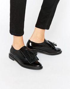 ASOS MARIELLA Premium Leather Flat Shoes