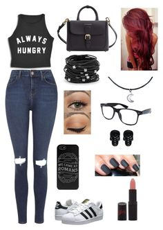 """""""Carry on"""" by fernandaaml on Polyvore featuring Topshop, adidas Originals, Burberry, Chico's, Wet Seal, Retrò and Rimmel"""