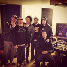 HU in the studio. Danny's face in pictures are hilarious XD