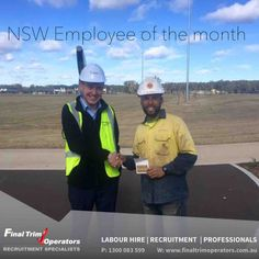 Congratulations to our NSW Employee of the month for June 2016 Gilles Boulevart - Gilles has been a consistently great worker on a huge landscaping project in Jordan Spring. He was presented with a gift voucher.   If you would like to work on this project or any of our other NSW projects please call us to discuss opportunities. #recruitment