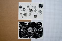The Moon and Planets Postcards by megbentley on Etsy, £2.00