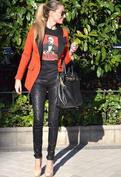 Red and black  , Sheinside en , Salsa Jeans en