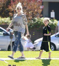 Pregnant Gwen Stefani with Kingston