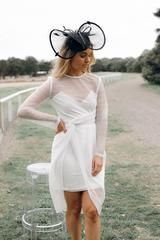beam dress - ivory - Esther Boutique