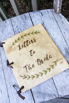 Custom Wedding Guest Book - Letters to The Bride - Bridal shower book by…