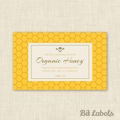 Create custom labels for honey online... Create etichette personalizzate per miele online...Créer des étiquettes personnalisées online...