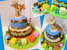 cowboy and indian theme first birthday cake   AiMummy: Precious Moment Cowboy theme