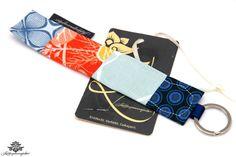 Patchwork Schlüsselanhänger von Lieblingsmanufaktur: blau, orange