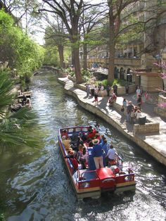 River Walk, San Antonio.  Fun place to go w/family.  Like