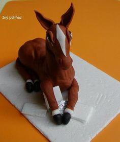Fotopostup na koníka 5 Polymer Clay, Pasta, Dali, Biscuit, Cakes, Decorating Cakes, Fondant Horse, Cold Porcelain, Horses