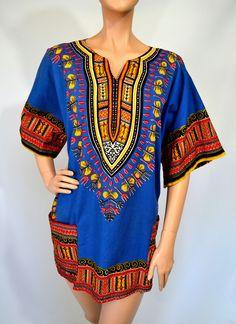 Your Yoruba... Vintage 70's Jaime Ca By Bettina Dashiki Tunic Top Mini Dress. via Etsy.