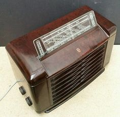 Philips BX462A Vintage 1946 Valve Radio Bakelite WORKING Art Deco Modernist