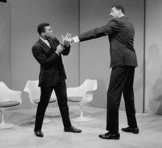 Mohammed Ali et Wilt Chamberlain.