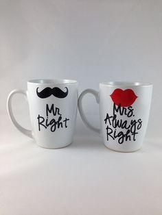 Mr Right Mrs Always Right Coffee Mug by FleurdeChicBoutique