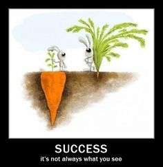 The real face of success
