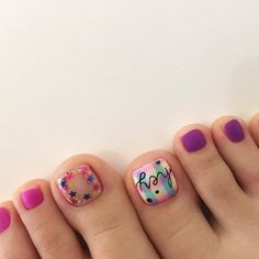 Luv Nails, Cute Toe Nails, Baby Nails, Pretty Nails, Pedicure Nail Art, Toe Nail Art, Modern Nails, Nail Time, Feet Nails