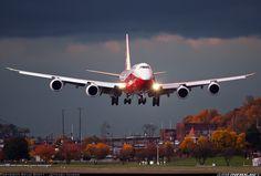 Boeing 747-8JK Landing, Seattle  Boeing Field  Photographer Keven Scott Jetwash  Images