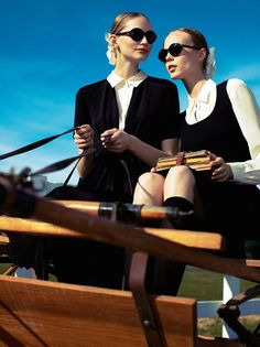 Katrin Thormann & Kristy Kaurova by Alexi Lubomirski for Vogue Germany February 2011