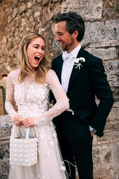 Norwegian Influencer Annabel Rosendahl Recreated a Slim Aarons Photo at Her Wedding in Tuscany   Vogue Wedding Couples, Wedding Bride, Wedding Gowns, Lace Wedding, Dream Wedding, Wedding Dreams, Tropical Wedding Bouquets, Wedding Dresses With Flowers, Bridal Dresses