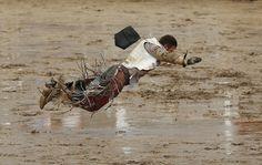 Flying Cowboy Meets Mud Rodeo, Good Music, Mud, Cowboys, Diving, Utah, Westerns, Horses, Alberta Canada