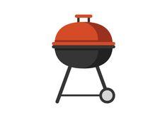 Barbecue Grill Flat Vector