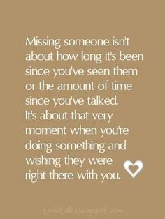 Photo: Someday, for one reason or another, there will be someone you miss dearly. Be sure to appreciate every moment you get to spend with the people who matter to you.