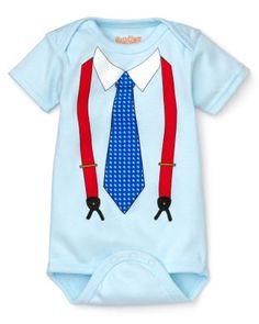 Sara Kety Infant Boys' Tie and Suspenders Bodysuit - Sizes 0-18 Months | Bloomingdale's