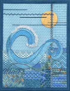 The Wave by Joni Stevenson Advanced Intermediate Needlepoint Class