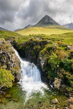 Glen Brittle Waterfall, Scotland by Michael Blanchette