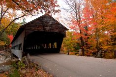 This bridge is on the Kangamangus Highway in the White Mountains of New Hampshire.