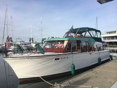 Beautifully Restored 1963 '36 ft Tollycraft Cabin Cruiser | Classic Wooden Boats For Sale - Used & New 39k 500 hrs. on 327's Everette Wa.